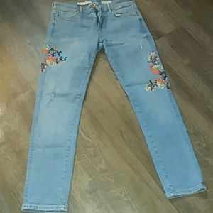 Pilcro and the Letterpress Embroidered Jeans